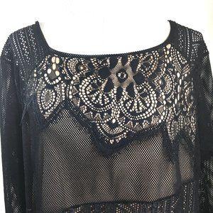 Lane Bryant Black Lace Dressy Party Top NWT